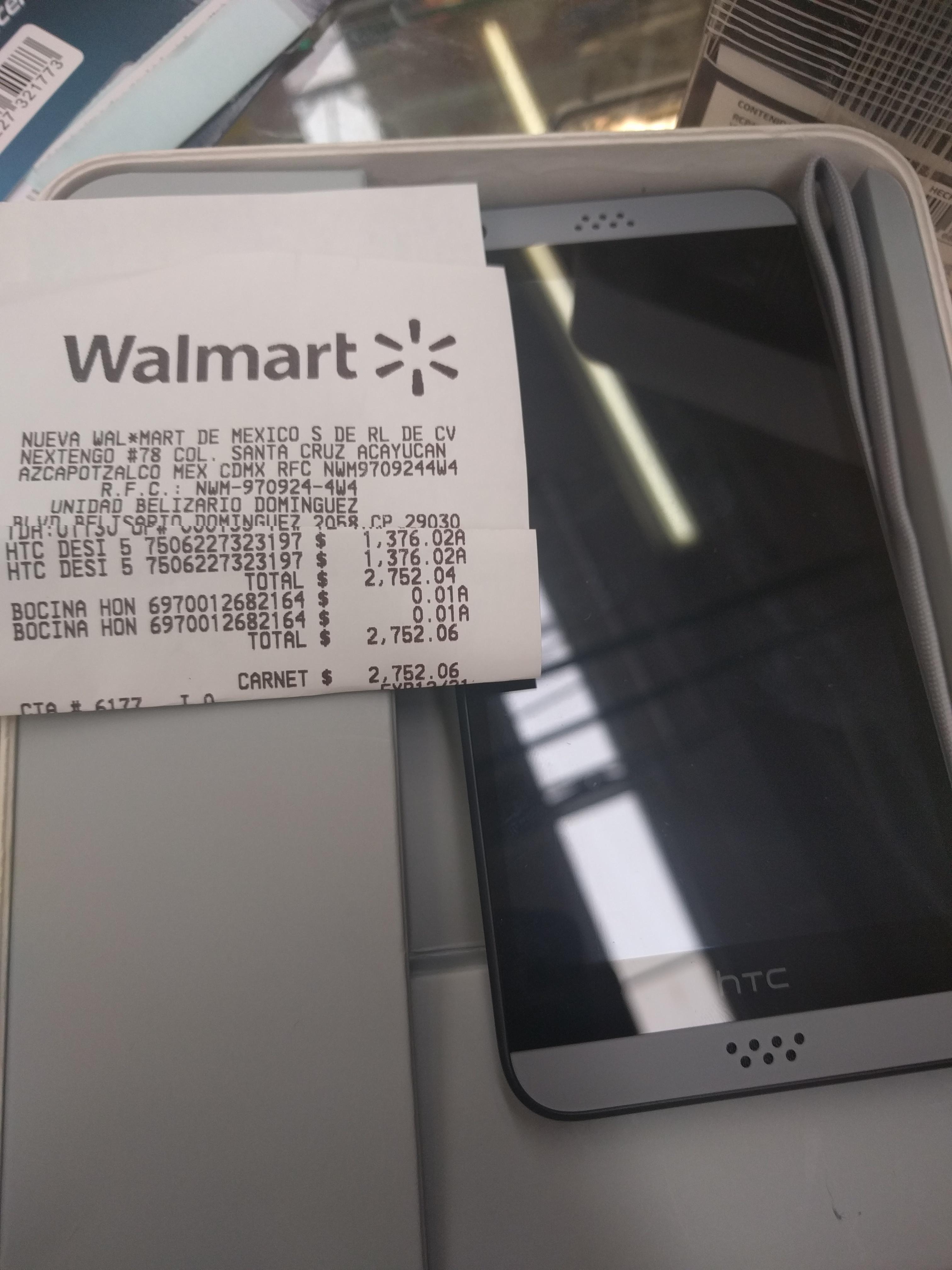 Walmart: liquidación HTC Desiré 530