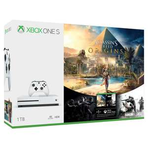 Elektra:  XBOX ONE S 1TB + VIDEOJUEGOS DESCARGABLES ASSASSIN'S CREED ORIGINS Y RAINBOW SIX SIEGE (PAGANDO CON MERCADO PAGO)