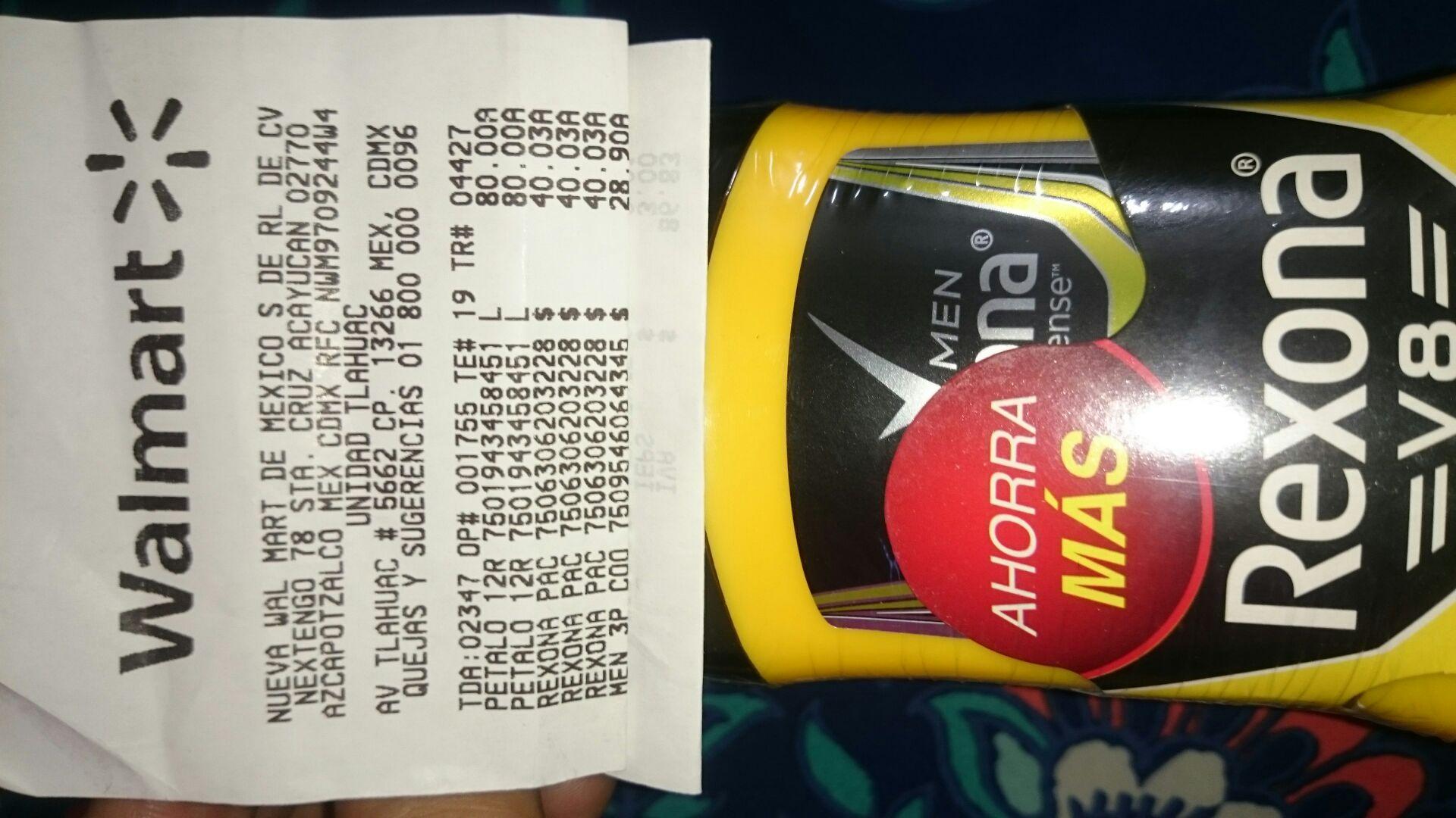 Walmart Los Olivos: 3pack antitranspirante rexona v8 $40.03
