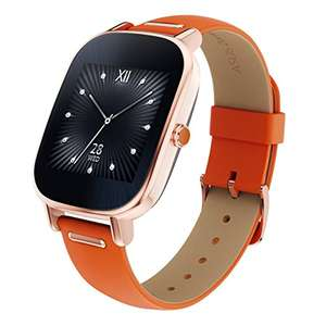 Amazon: Reloj Asus ZenWatch 2 Rosa Oro Extensible Naranja