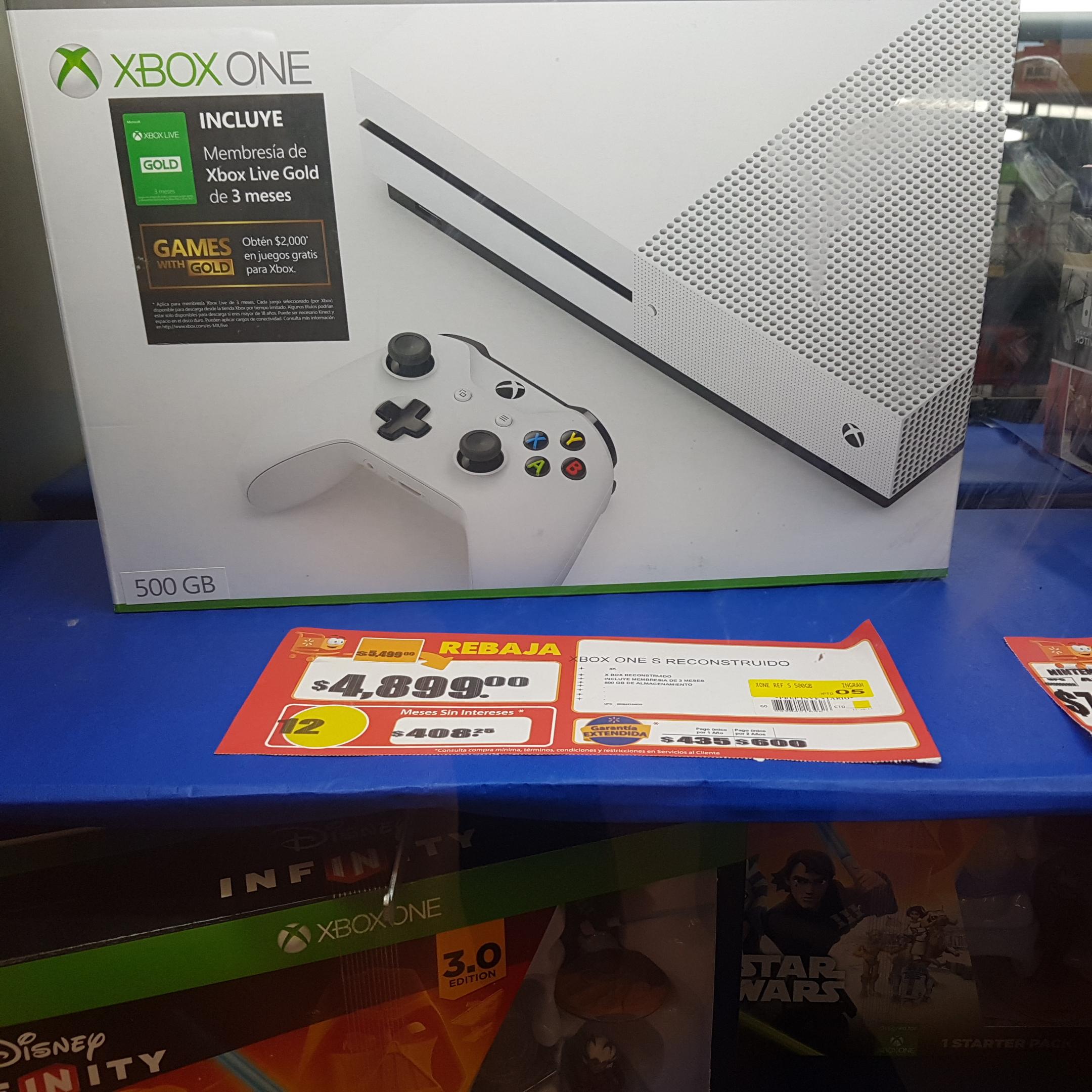 Walmart: Consola Xbox S 500gb RECONSTRUIDO