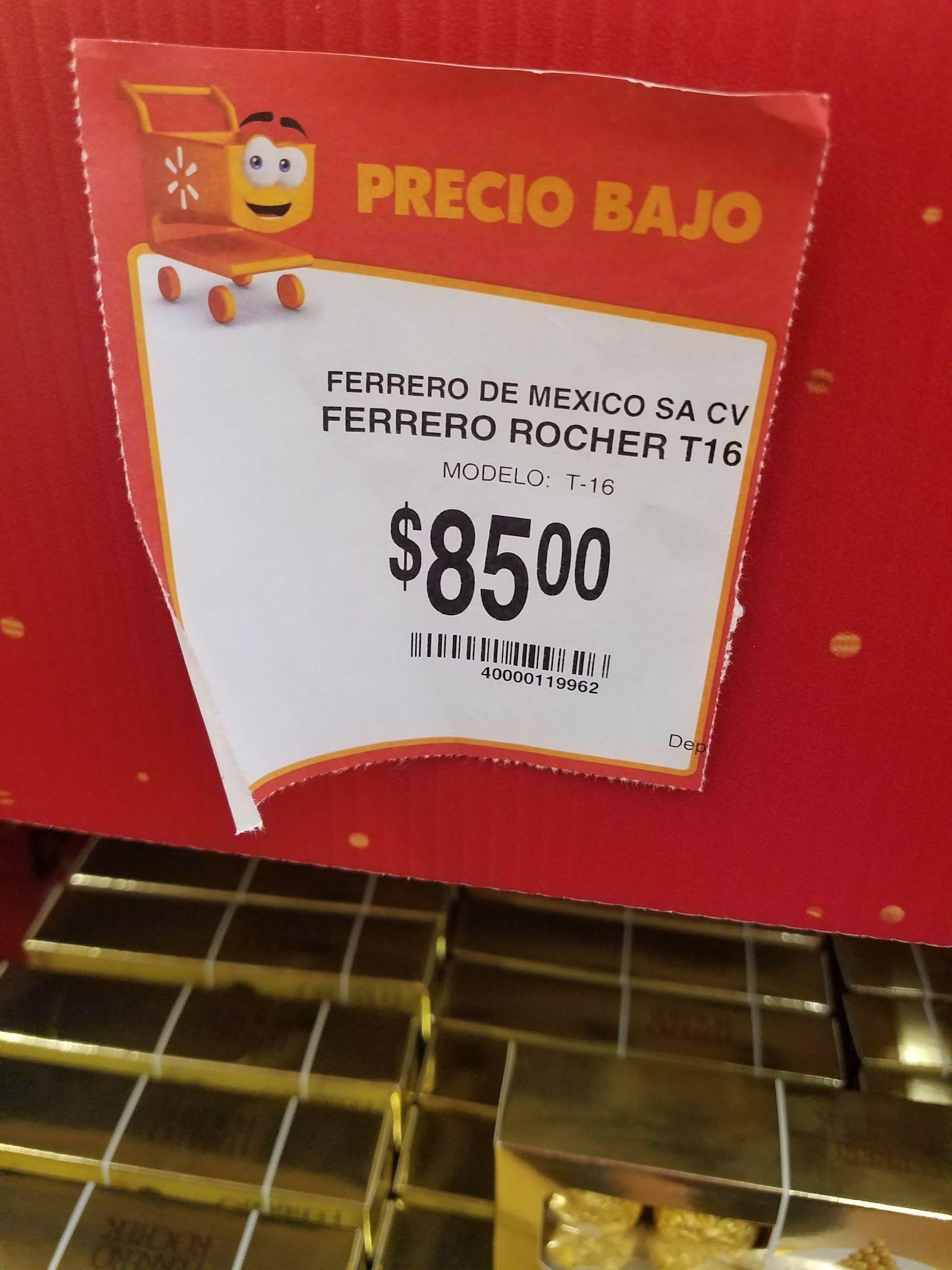 Walmart: Ferrero Rocher 16 piezas