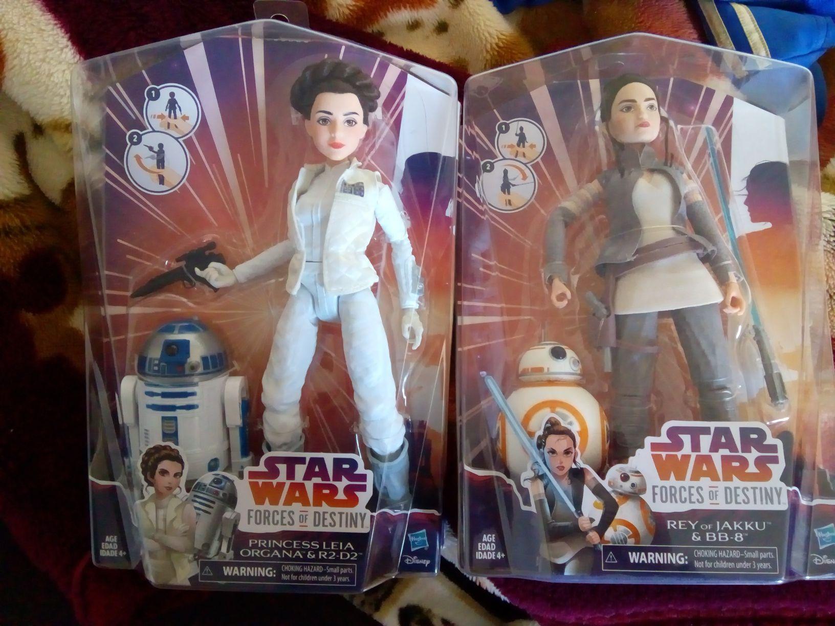 bodega aurrerá muñecas de star wars princesa leía y rey de jakku