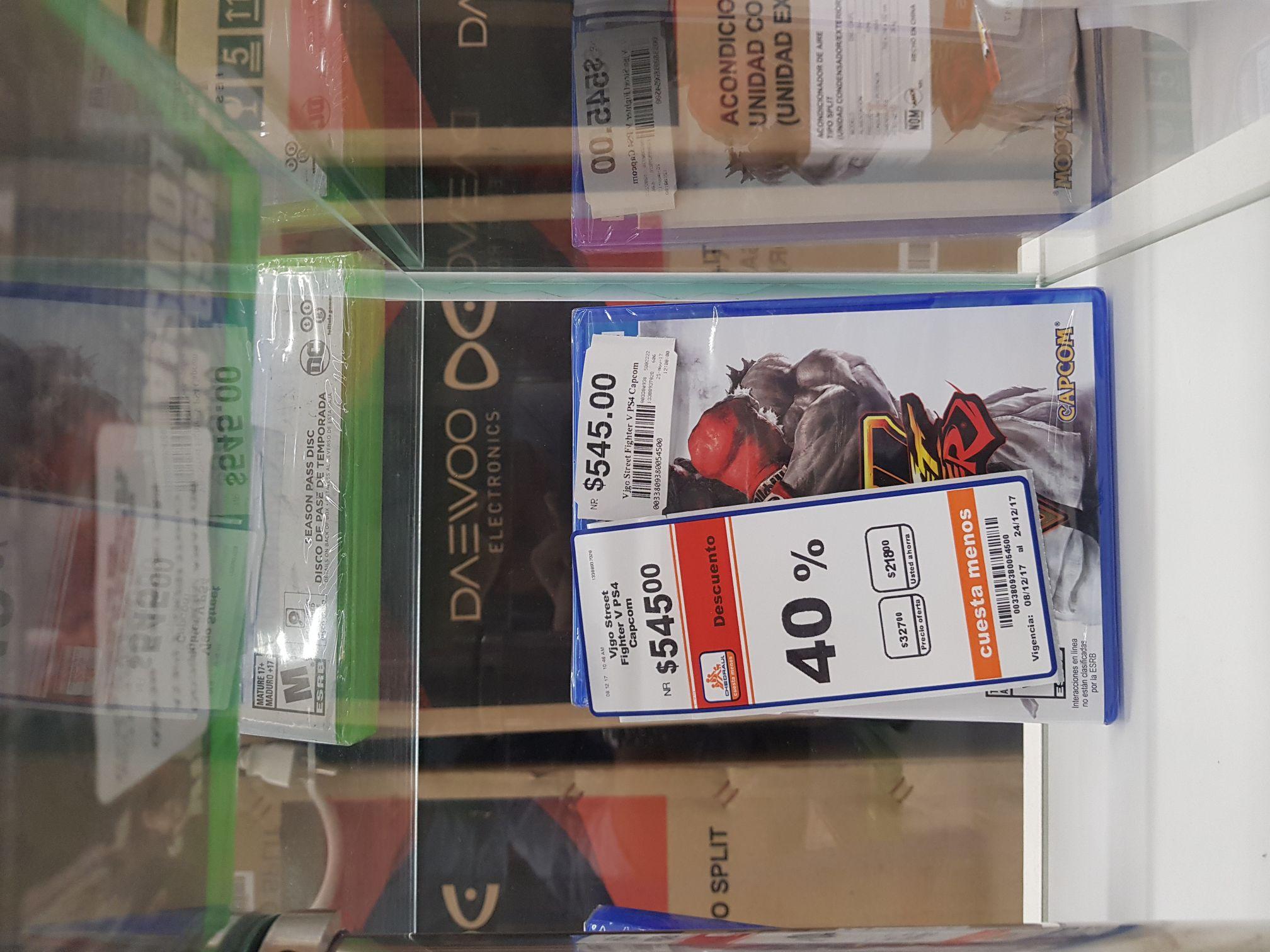 Chedraui: Street Fighter V para PS4 a $327