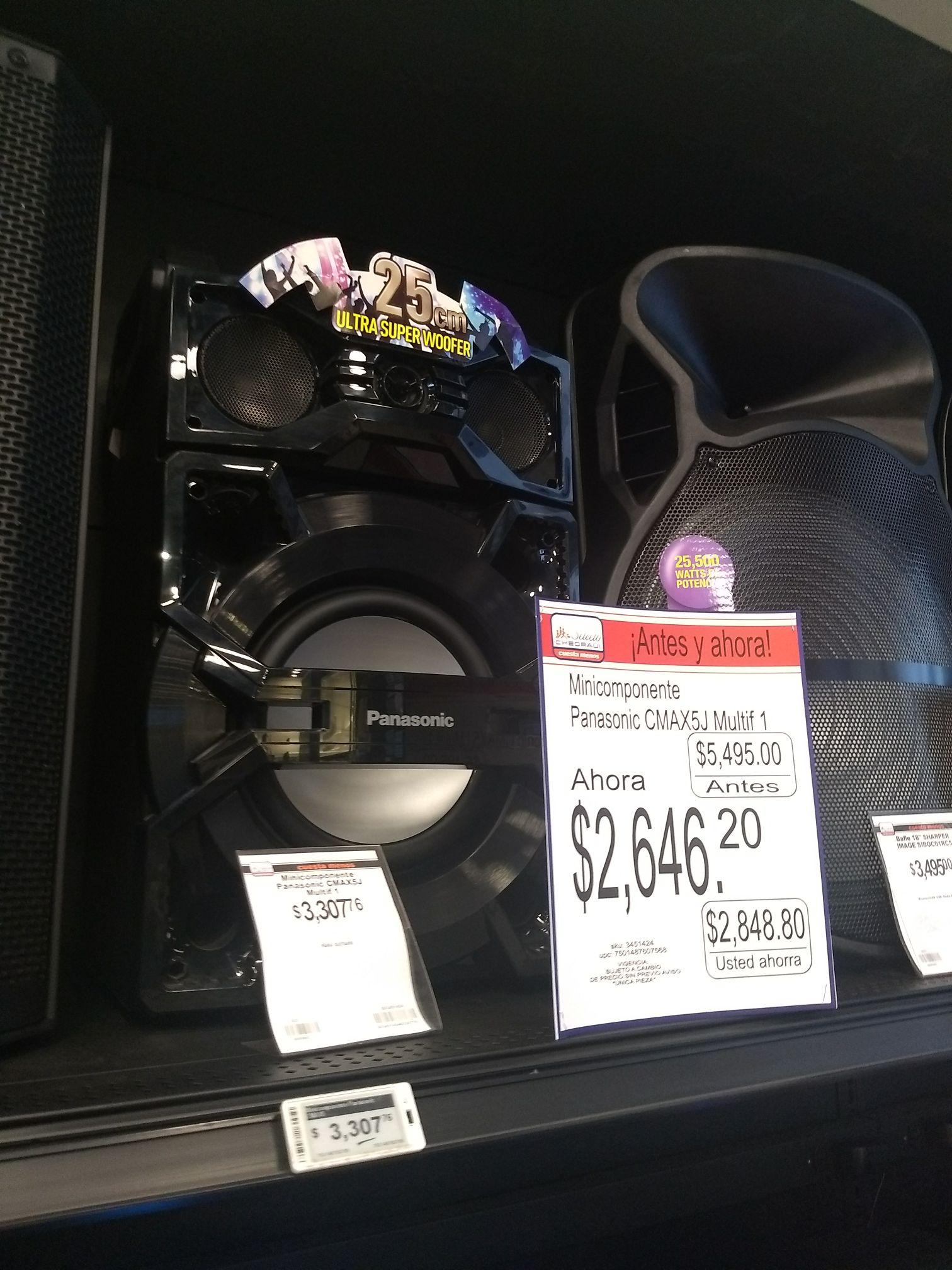 Chedraui Selecto Angelópolis: Mini Componente Panasonic CMAX5J a $2,646