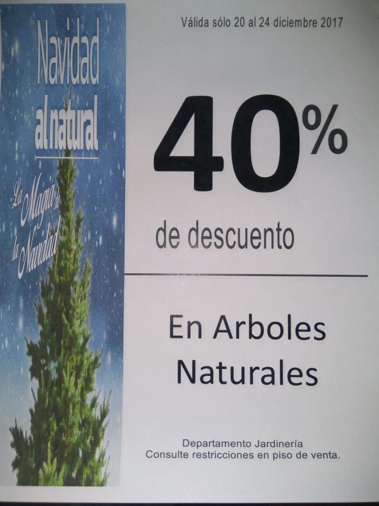 Liverpool: Árboles Naturales con 40% de descuento