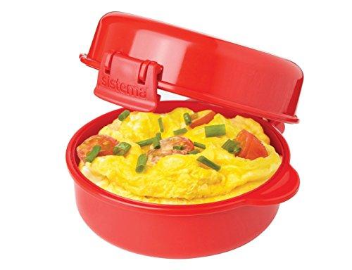 Amazon: Sistema 1117 EASY Huevos Microondas Utensilios de cocina, color rojo