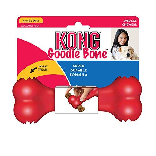 Amazon: KONG Goodie Bone Juguete para Perro con Forma de Hueso, pequeño, rojo