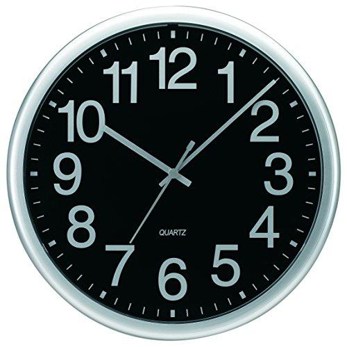 Amazon: Tempus tc7000s Comercial Reloj de pared con marco y cuarzo, 13 – 1/5,1 cm plateado