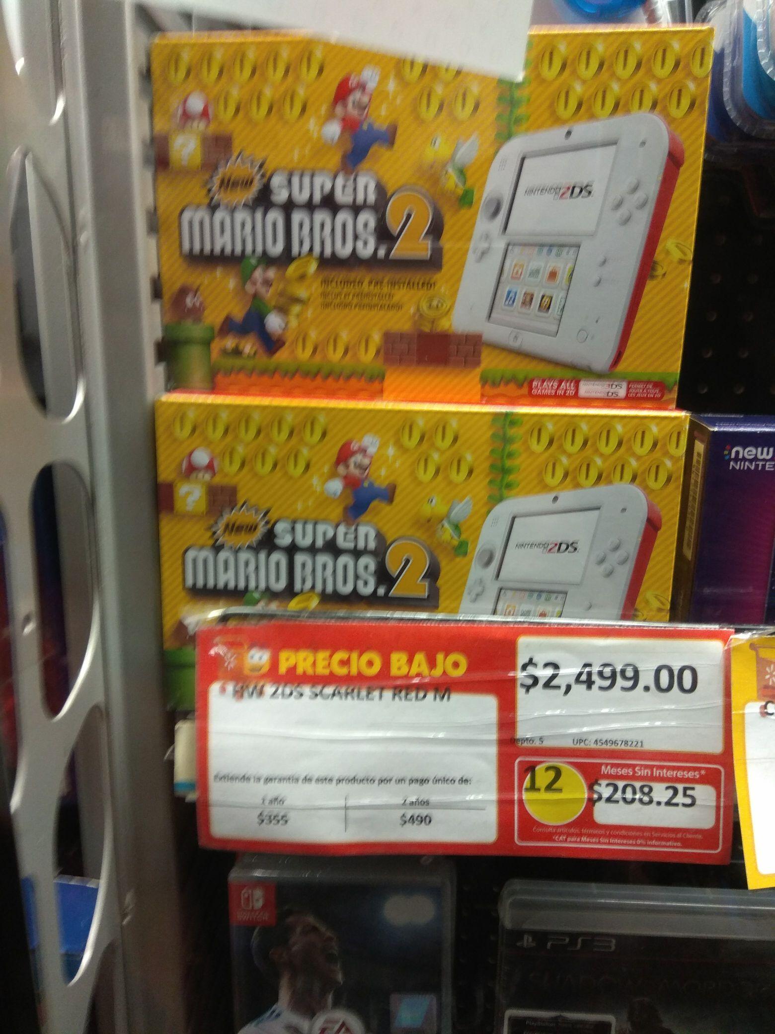 Walmart: Nintendo 2ds Edición New Super Mario Bros 2