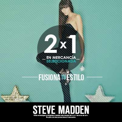Steve Madden: 2x1 en mercancía seleccionada