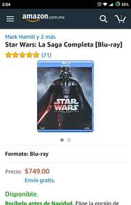 Amazon: Star Wars: La Saga Completa [Blu-ray]