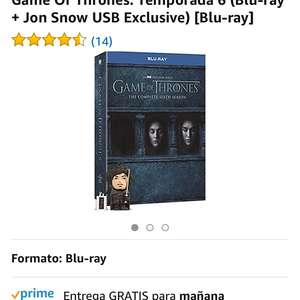 Amazon: BR Game of Thrones Temp 6 + USB Jon Snow