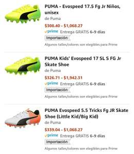 Amazon: Tenis puma evospeed desde 308 kids y 340 adulto