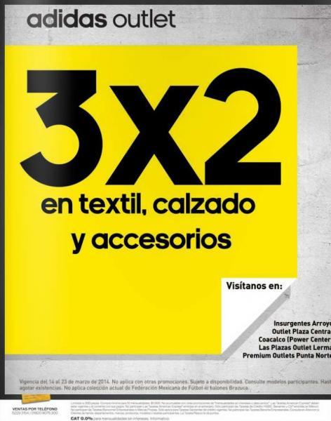 Adidas Outlet: 3x2 en textil, calzado y accesorios