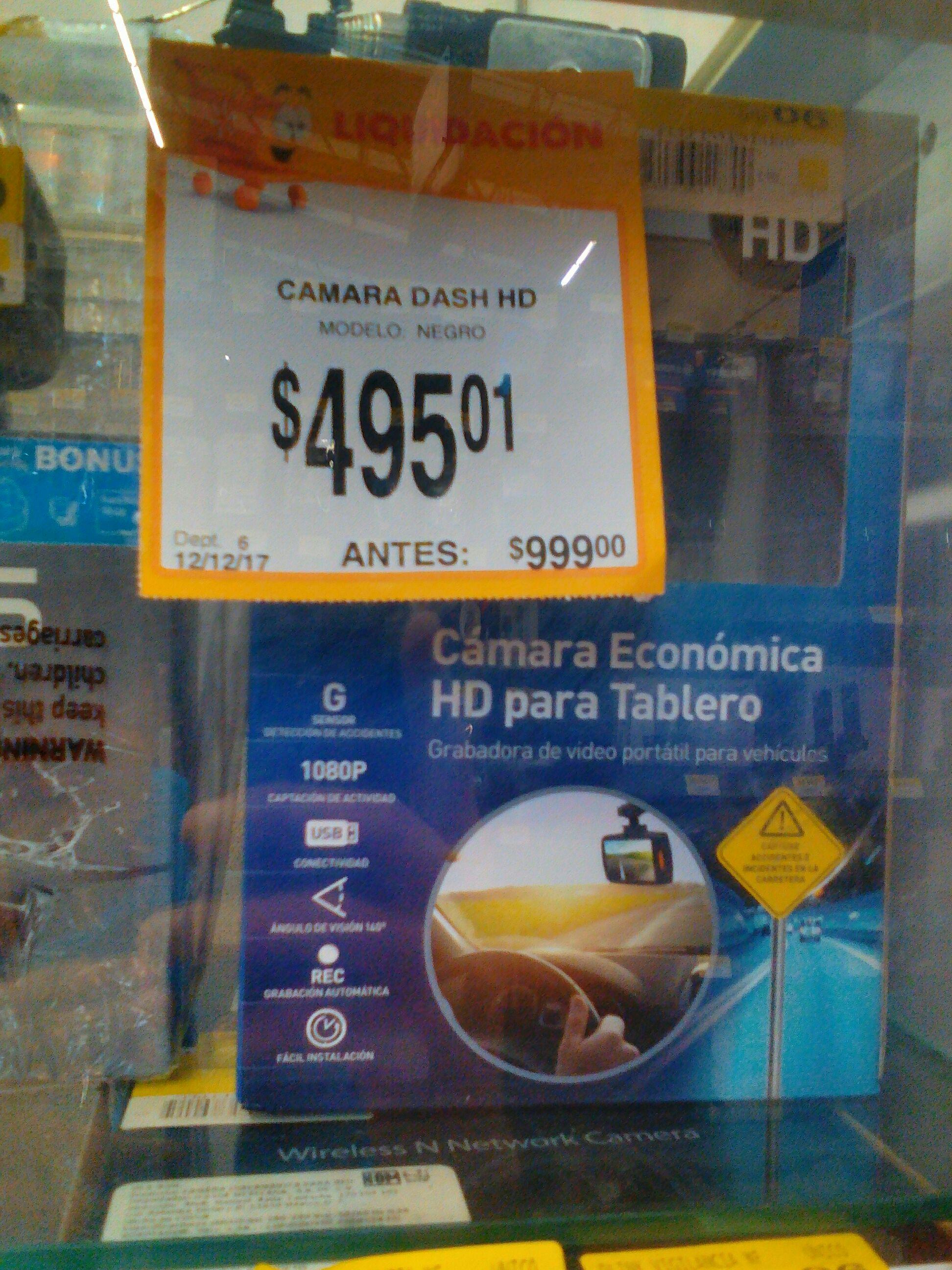 Walmart: liquidación Cámara HD para tablero de auto