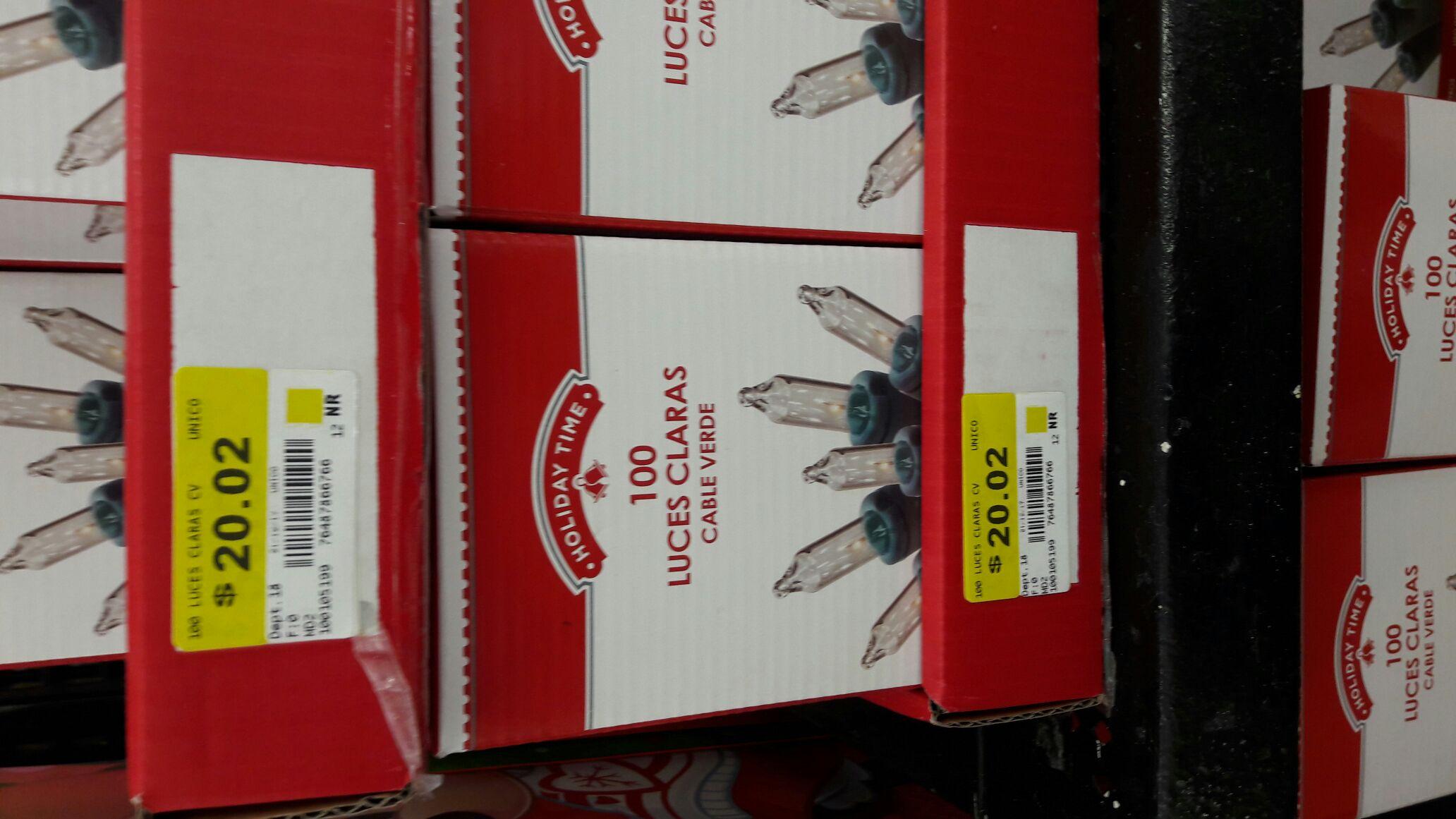 Walmart buenavista: luces navideña a $20.02