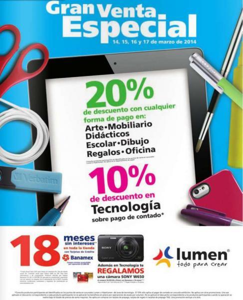 Venta especial Lumen: descuentos y cámara Sony de regalo con compra mínima