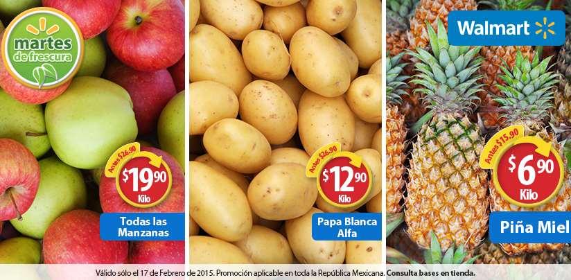Martes de frescura en Walmart febrero 17: piña $6.90 el kilo y más