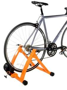 Amazon: Ciclismo en casa, Indoor bicicleta Trainer Exercise Stand, Orange