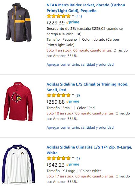 Amazon: Recopilación chamarras/sudaderas para hombre menos de 350 con envios gratis con Prime