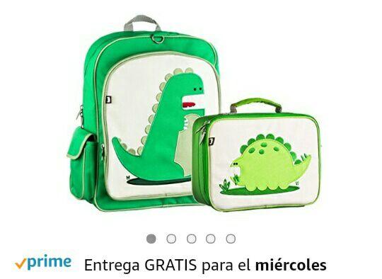 Amazon: Kit mochila -lonchera Beatrix Niño Niños Escuela Niña Dinosaurio