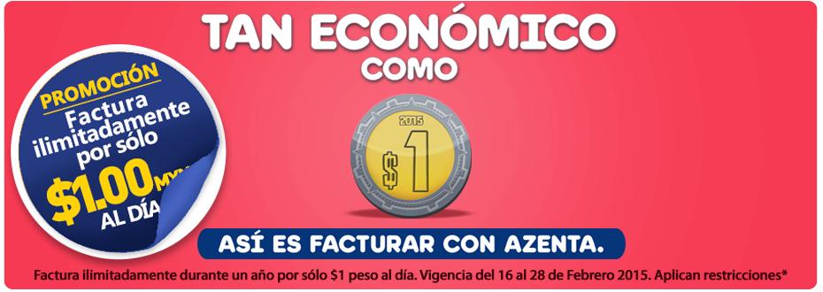 Azenta: facturas electronicas ilimitadas $1 al día