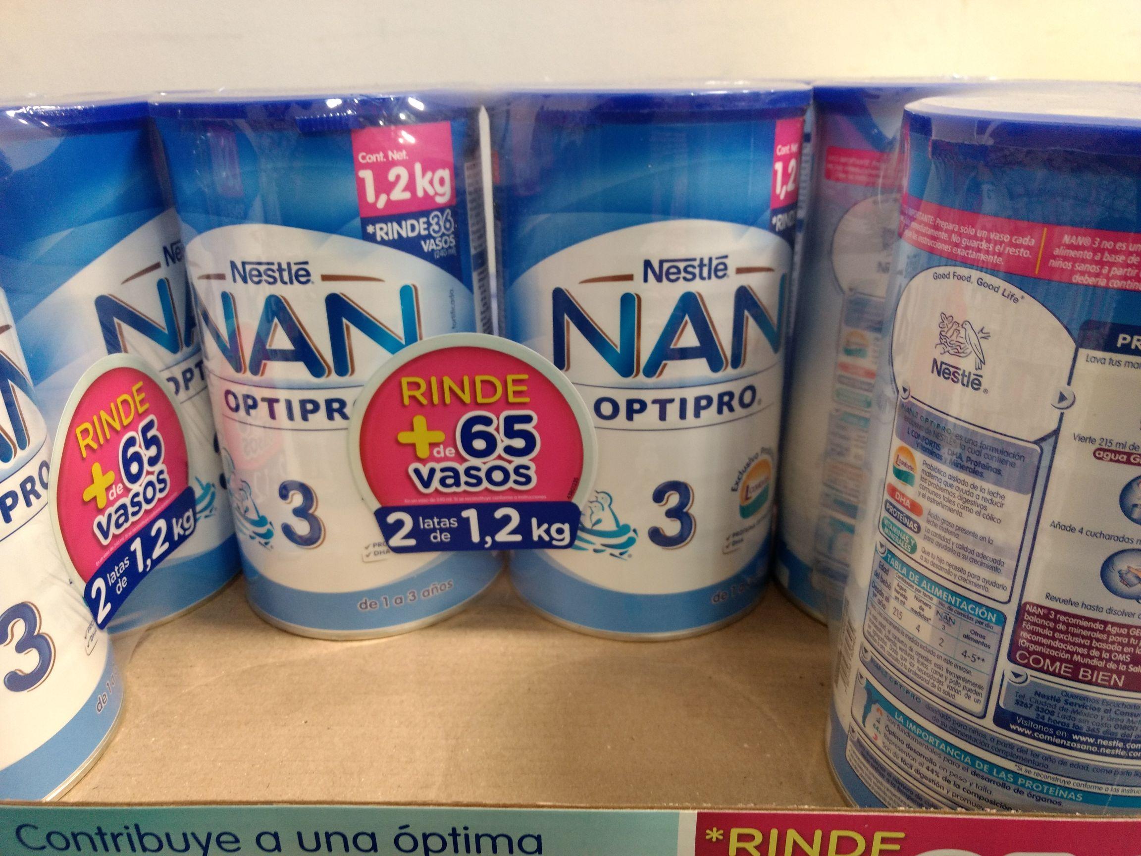 Costco: Leche Nan 3 otipro 2.4 kg $299
