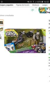 Amazon: Teenage Mutant Ninja Turtles Vehículo de Tortugas Ninja Rhino Chopper con la Figura de Rocksteady