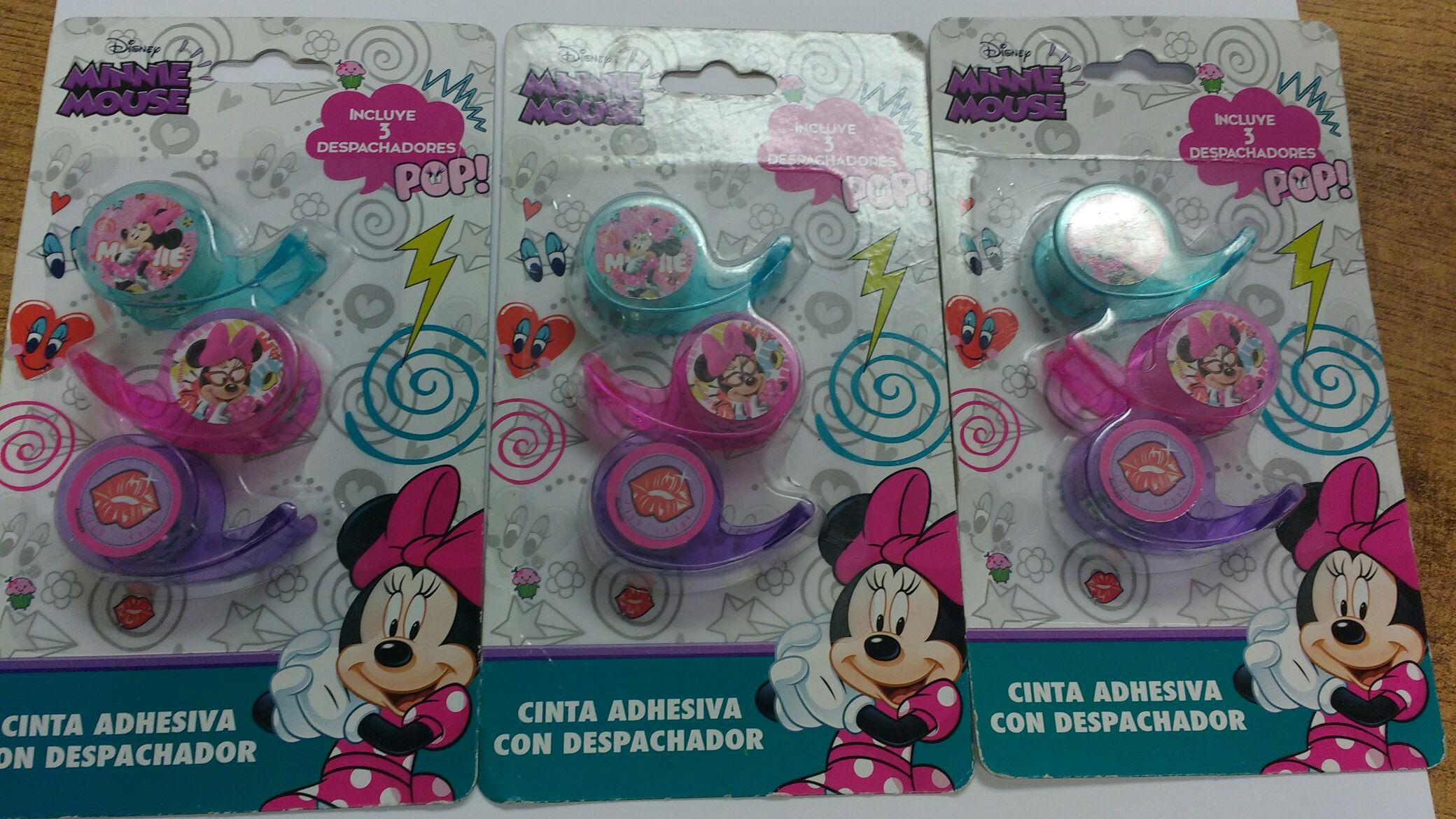 Walmart Plaza las Américas: Cinta adhesiva con despachador de Minnie Mouse a $0.01