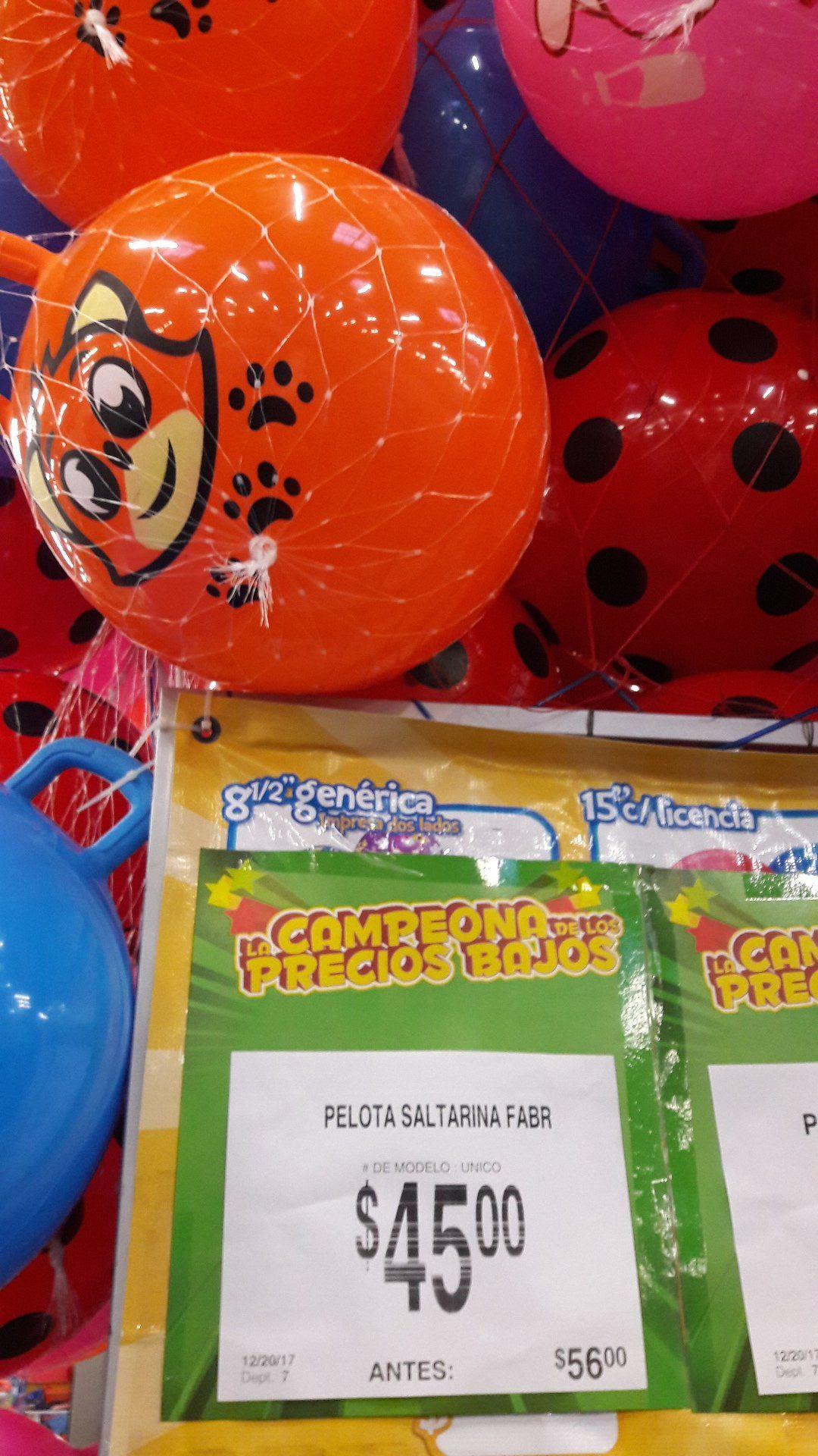 Bodega Aurrerá: Ofertas juguetes (ej. pelota saltarina a $45.00)