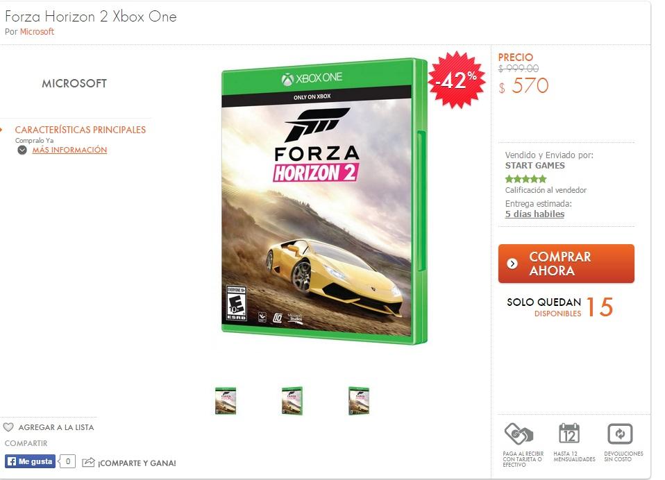 Linio: Forza Horizon 2 $570