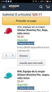 Amazon USA: Gorras New Era (Add-on)