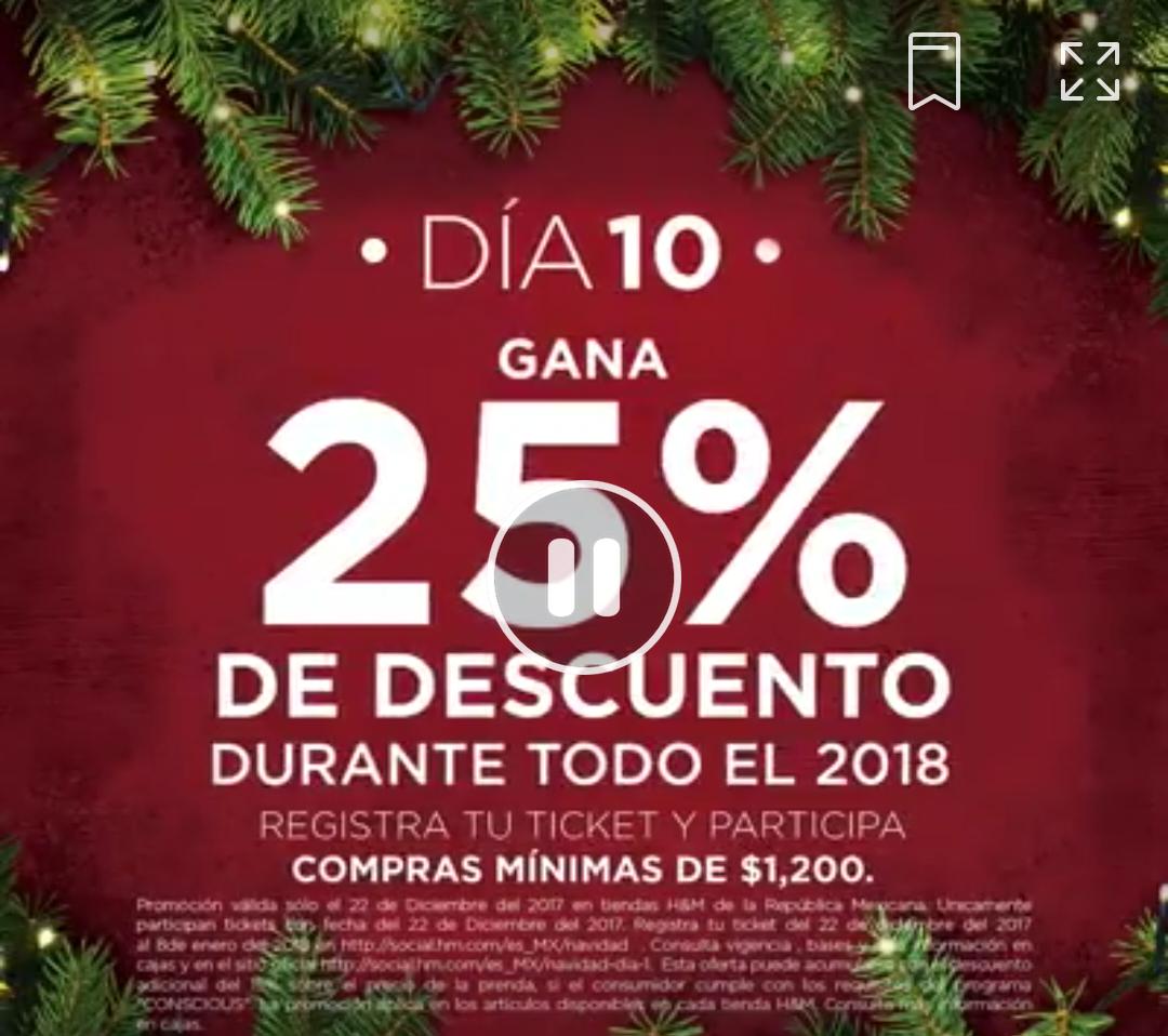 H&M: 10° Día de Navidad 22 Diciembre:+