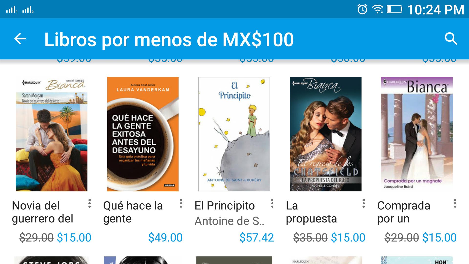 Google Play: Libros por menos de $100