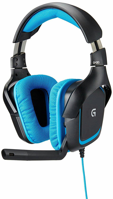 Amazon MX: Logitech Auriculares de Diadema, Sonido 7.1, color Negro/Azul
