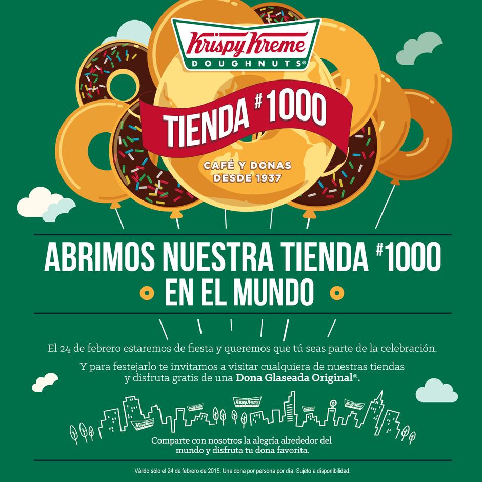 Krispy Kreme: donas gratis el 24 de febrero