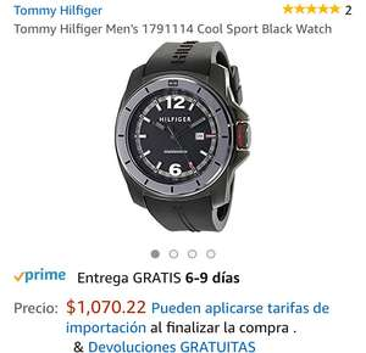 Amazon: Reloj Tommy Hilfiger Hombre 1791114