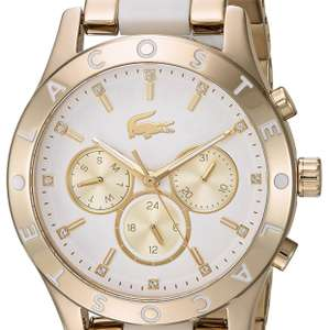 "Amazon: Lacoste mujeres ""Charlotte del acero inoxidable de cuarzo reloj Casual, Color: gold-toned"