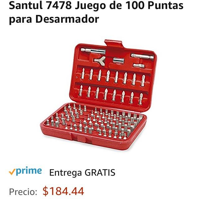 Amazon: Juego de 100 puntas de desarmador Santul 7478