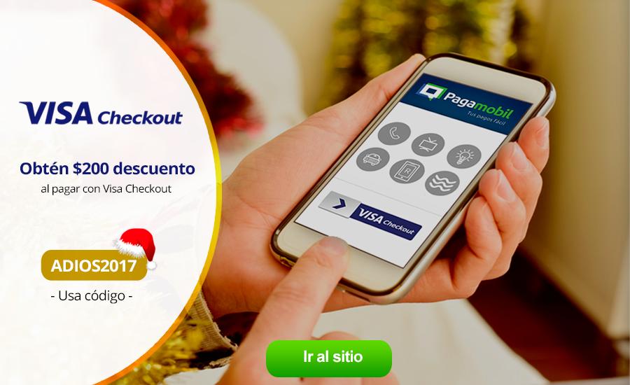 Pagamobil: descuentos de $50, $100 y $200 para usuarios nuevos y recurrentes pagando con VISA Checkout