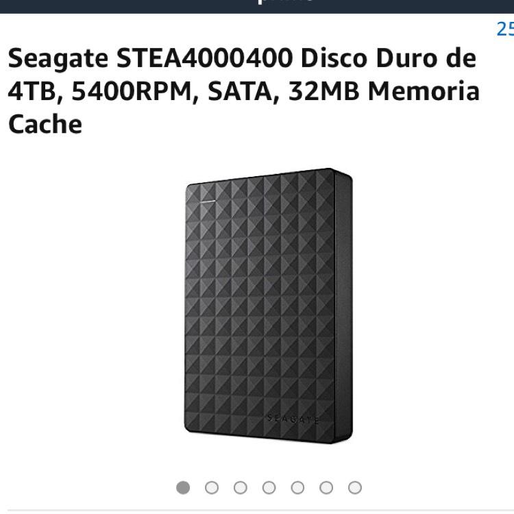 Amazon: Disco duro de 4Tb STEA4000400