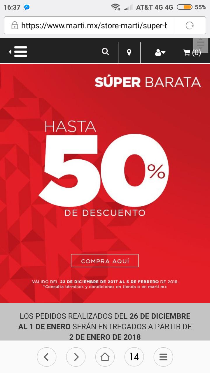 Martí: Super barata Martí, hasta el 50% en productos seleccionados