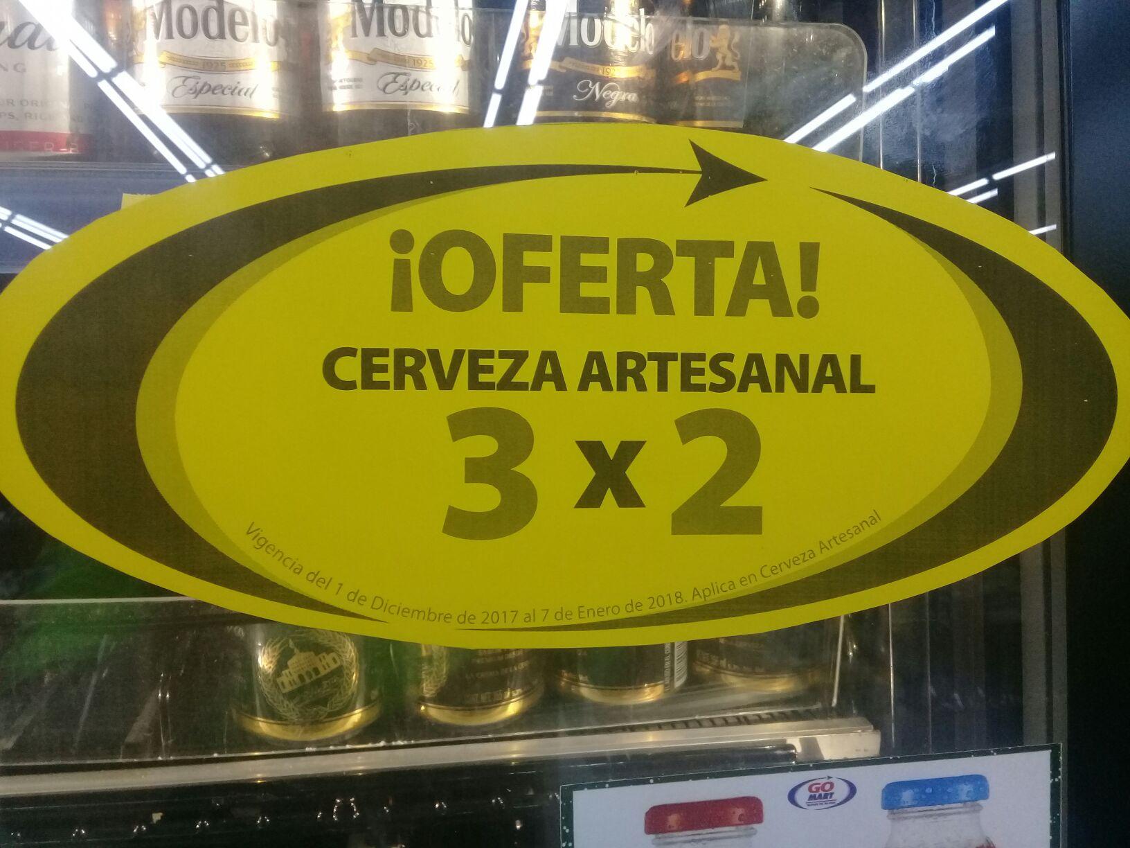 3x2 en cervezas artesanales en go mart