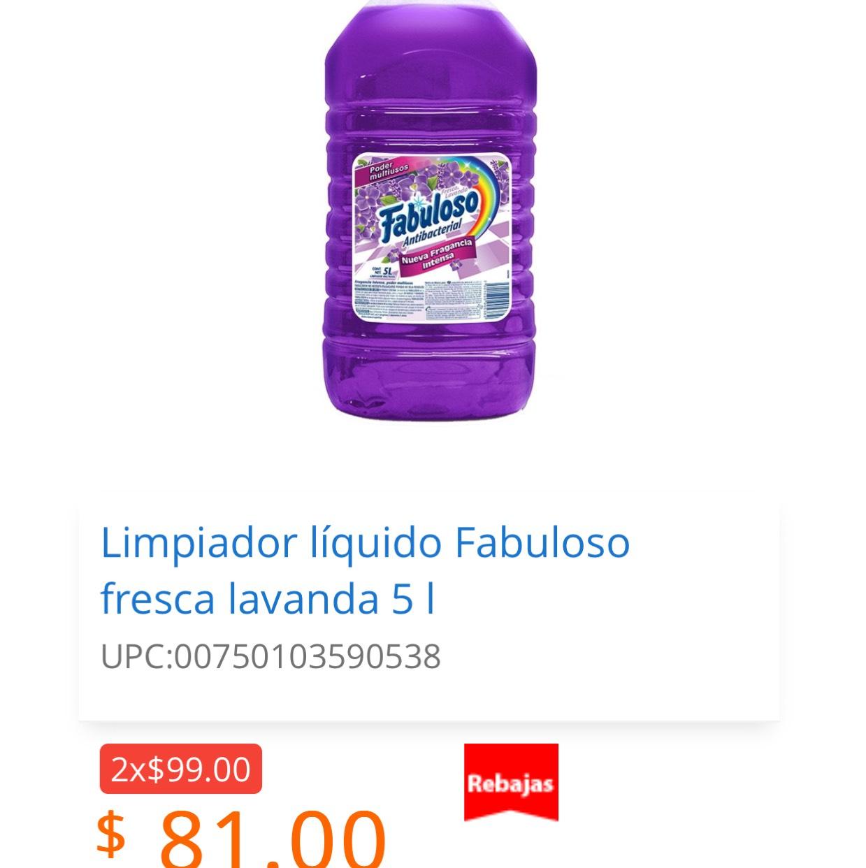 Walmart en línea 2 fabuloso de 5 l por $99.00