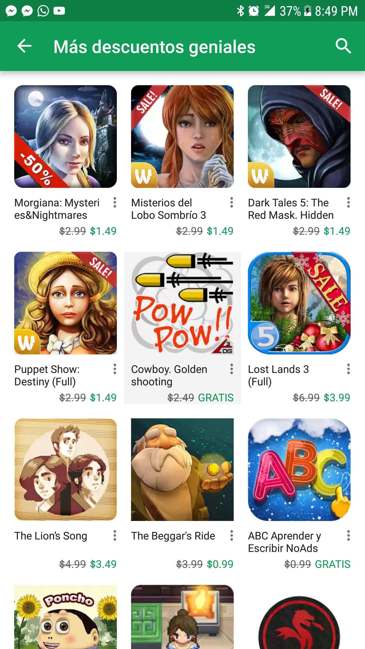Google Play: Más descuentos geniales en Apps y juegos