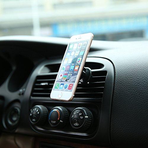 Amazon: Soporte Magnetico de Telefono Celular para Coche para Rejilla de Ventilacion del Vehiculo Universal Compatible con Iphone Andriod GPS Navegador Tablet Rotacion 360 Grados, Negro.