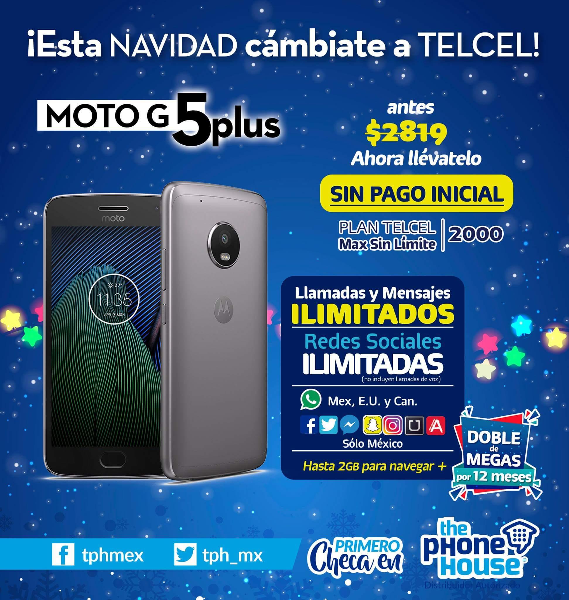 Telcel: oferta local Veracruz moto G5 plus gratis en plan $299 al aplicar portabilidad