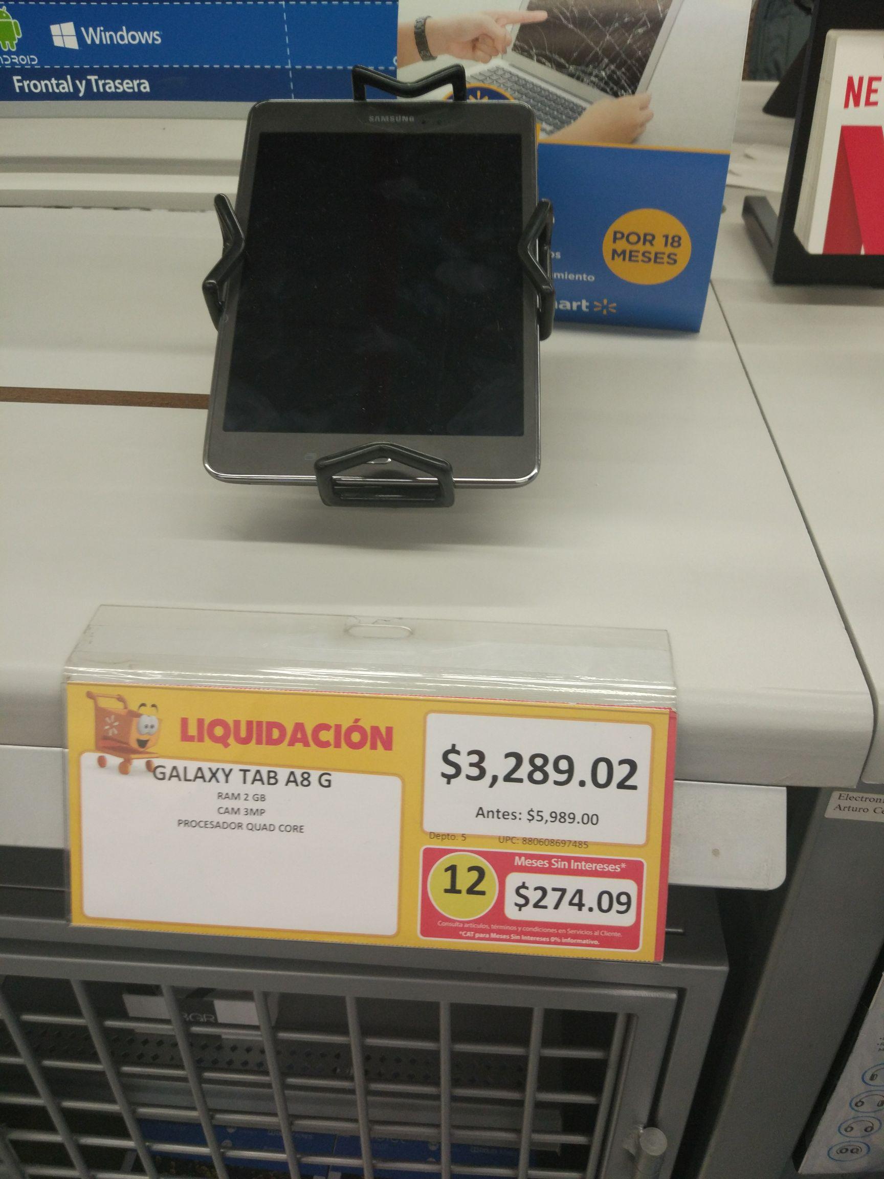 Walmart: Tablet Samsung Galaxy A8 a $3,289.02