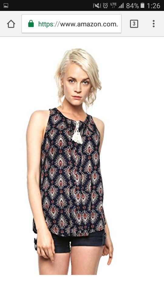 Amazon: West Avenue Blusa Multicolor con Agujeta Blusa para Mujer